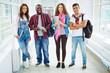 Teenage students in casualwear