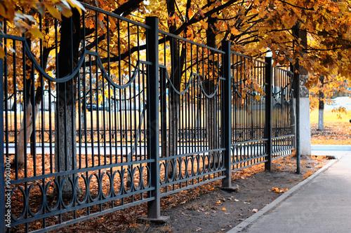 Obraz na plátne fence pattern perspective