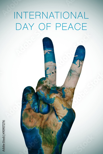 Foto  international day of peace (Earth map furnished by NASA)