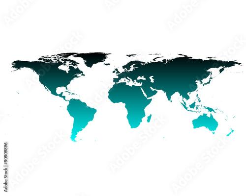 Foto op Canvas Wereldkaart Weltkarte