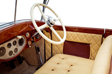 Luxury Retro Car Interior