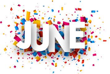 June sign.