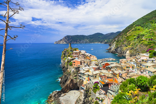 Fototapeta Vernazza- one of the most beautiful villages of Italy,