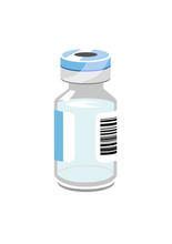 Vector Image Of A Vial/phial Or Bottle