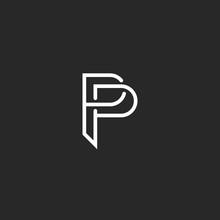 P Letter Monogram Logo, Black ...