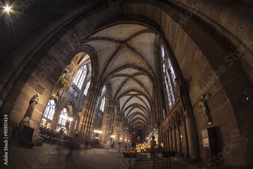 Fotografie, Obraz  Summer Strasbourg in fish-eye lens