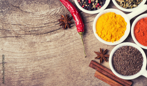 Canvas Prints Spices Spices and herbs
