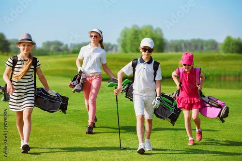 Deurstickers Golf golf school