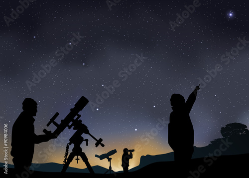 Paysage Astronomie Grande Ours Wallpaper Mural