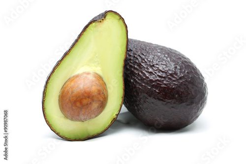 Fotografie, Obraz  Avocado on white background