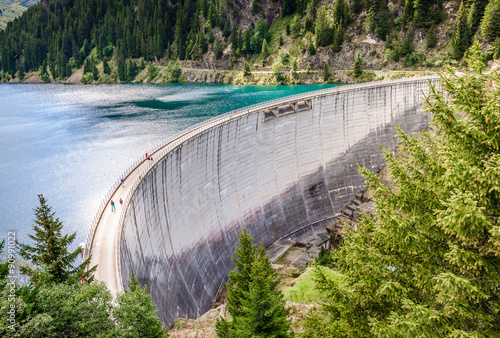 Deurstickers Dam Barrage de St Guérin en Savoie