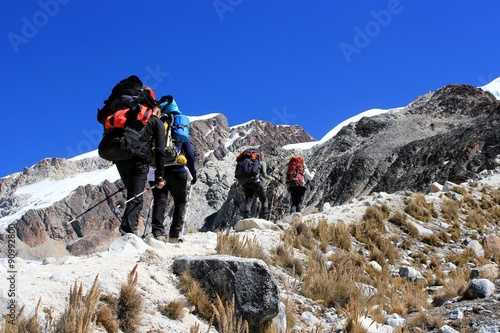 Photo sur Aluminium Alpinisme trekking