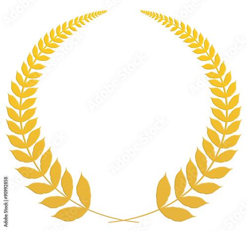 Fotografie, Obraz  couronne de laurier, médaille d'or