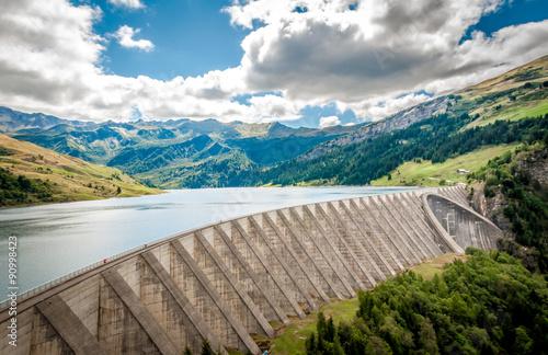 Fotobehang Dam Barrage de Roselend en Savoie