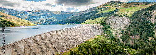 Printed kitchen splashbacks Dam Barrage de Roselend en Savoie