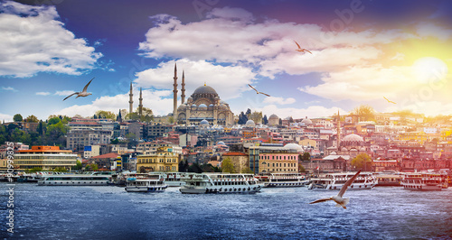 Photo sur Toile Jaune de seuffre Istanbul the capital of Turkey, eastern tourist city.