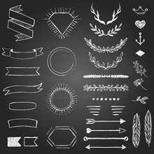 Set Of Hand Drawn Elements For...