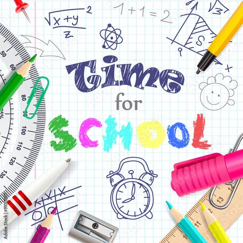 Fotografia  Time for school creative background