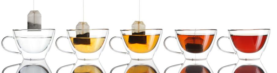 Fototapeta Teabag in the cup set