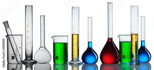 Fotografia  Chemical flasks collection