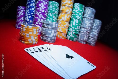 Poster  Royal flush poker hand
