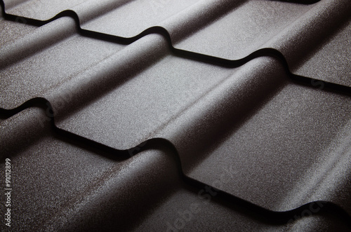 Fotografie, Obraz  Close up of metal roof tile