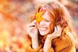 Leinwanddruck Bild - laughing autumn