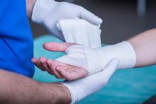 Bandaging A Hand