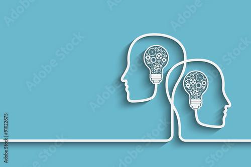 Head with bulb Canvas Print