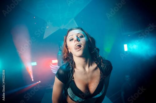 Foto op Plexiglas womenART Girl licks her lips. The club
