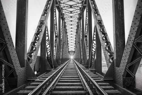 In de dag Brug Railway Bridge,Adana,Turkey