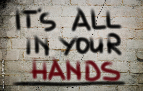 Poster It's All In Your Hands Concept