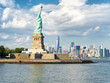 The Statue of Liberty with the New York skyline