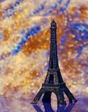Fototapeta Wieża Eiffla - Wieża Eiffla w pomniejszeniu