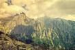 Summer mountain landscape. Picturesque view in High Tatra Mountains in summer season. Trail to the Slavkovsky Stit, Slovakia.