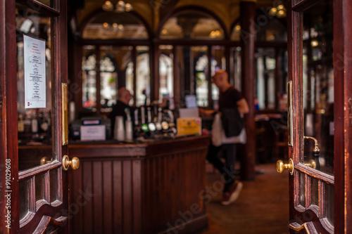 Fotografie, Obraz  Open door to the pub