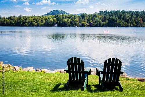 Fotografie, Obraz  Adirondack chairs