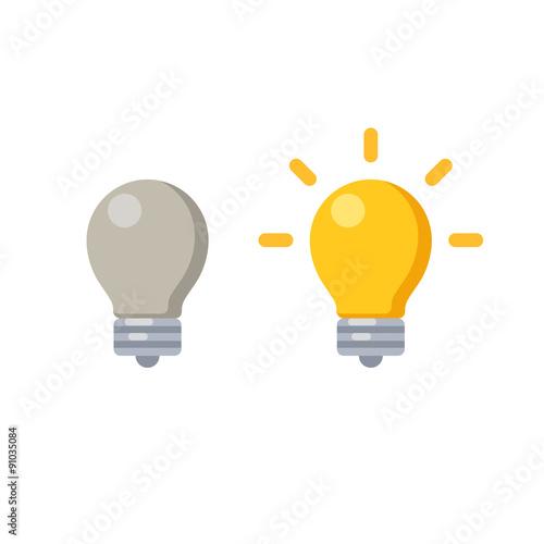 Lightbulb icon Wallpaper Mural