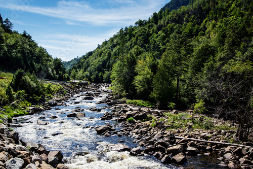 Creek In Adirondack Mountains Upstate New York Usa Transportation