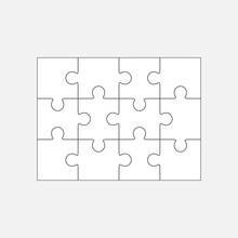 Jigsaw Puzzle Blank Template 4...