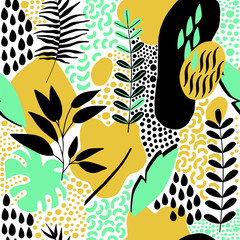 Fototapeta samoprzylepna Hand Drawn Abstract Seamless Pattern