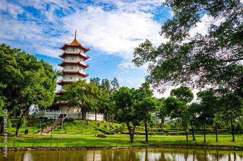 Photo  Chinese garden temple, Singapore