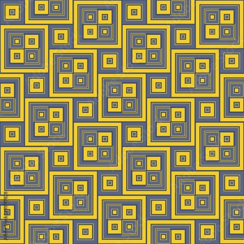 Vector Modern Seamless Colorful Geometry Pattern Yellow Color