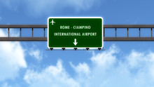 Roma Ciampino Italy Airport Highway Road Sign