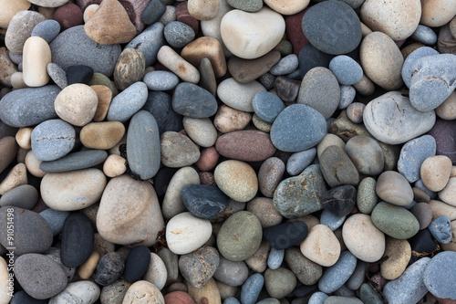 Fotografía  Pebbles on Bracelet Bay on the Gower peninsular, Swansea, UK.