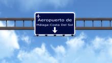 Spain Airport Highway Road Sign