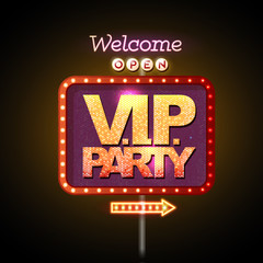 FototapetaNeon sign V.I.P. party welcome