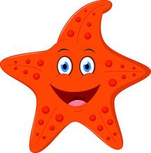 Happy Starfish Cartoon