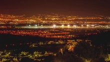 Timelapse Of Malaga Airport At Sunset From Alhaurin