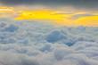 Leinwandbild Motiv View Above the Clouds, Sunset Cloudscape